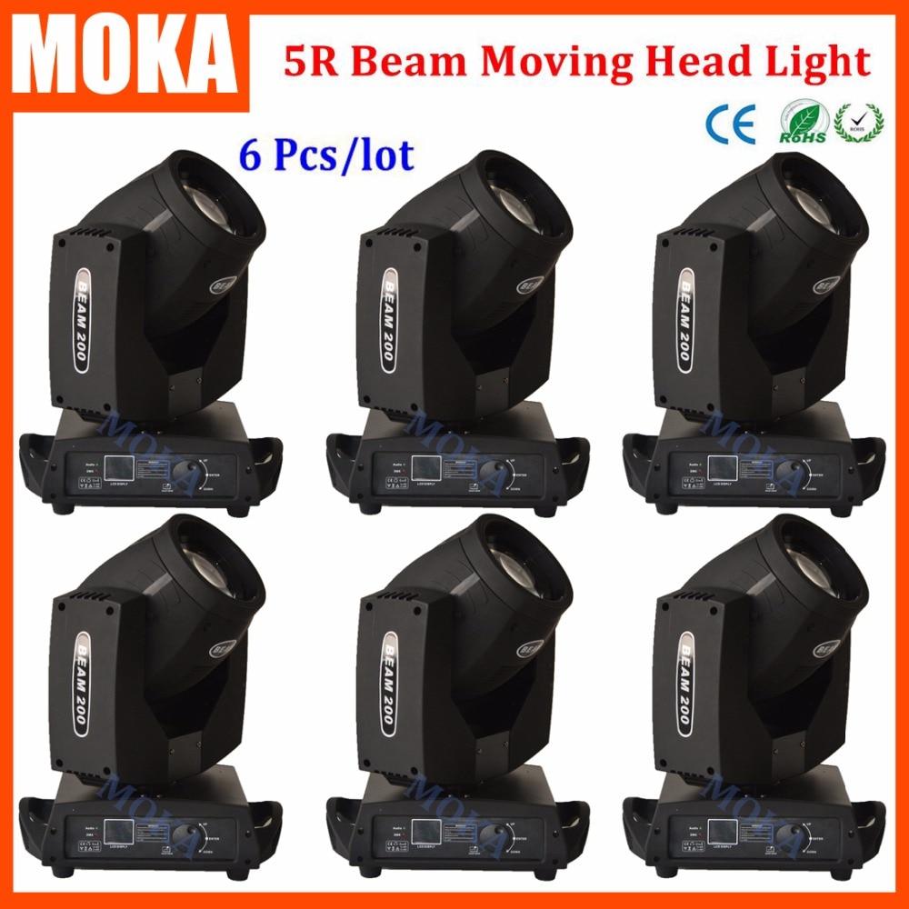 6 Pcs/lot 5R Beam Light Touch Screen Disco Beam Light DJ Equipment