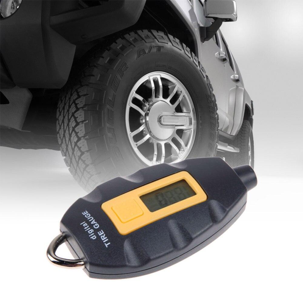 Prix pour Livraison gratuite 2015 Nouveau Mini Digital Tire Pressure Gauge LED Displaye Pour Universel De voiture