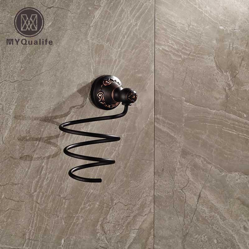 Durable Brass Blow Hair Dryer Holder Wall Shelf Bathroom Metal Shelves Set For Suporte Secador Prateleira цена