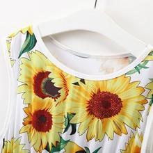 Summer Mother Daughter Kids Girl Sunflower Sundress