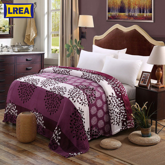 Brand Tree Blanket For Bed Spring Autumn Throw 3 Sizes Cozy Sofa Covers
