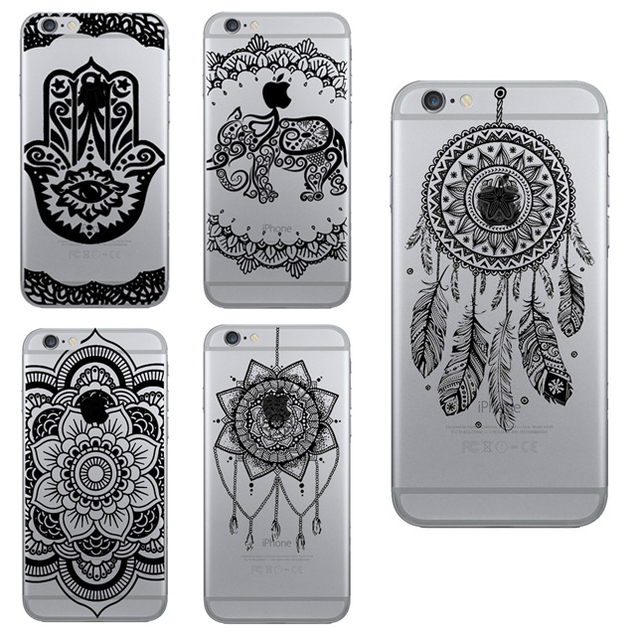 classic fit dfd71 0195b US $1.64 10% OFF|Damascus Floral Paisley Flower Mandala Cell Phone Case for  iPhone 5 5s /6 6S Plus Soft TPU Clear Skin Back Cover Capa Fundas-in ...