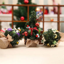 3 pcslot gold purple red mini artificial christmas tree xmas decoration home living room bedroom christmas supplies - Live Mini Christmas Tree