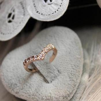 Anillos de aleación en forma de V, Anillos de boda de oro para Mujer, joyería de moda, Anillos de Mujer, gran oferta, triangulación de envíos