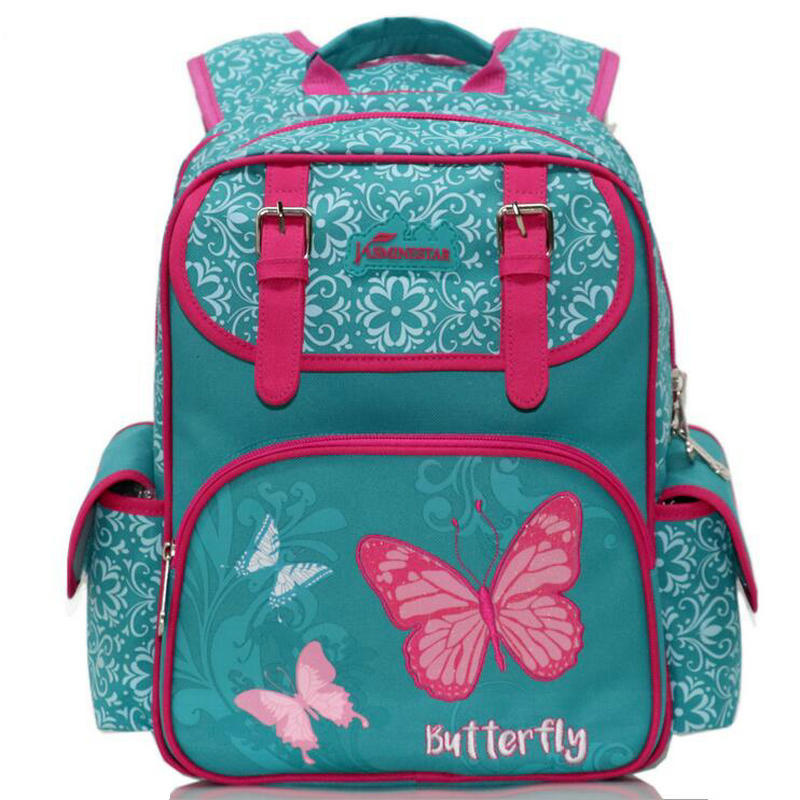 New Fashion Russia Brand Children Butterfly Design Schoolbags Student Backpack 1-5 Grade Owl Orthopedic School bag Backpack
