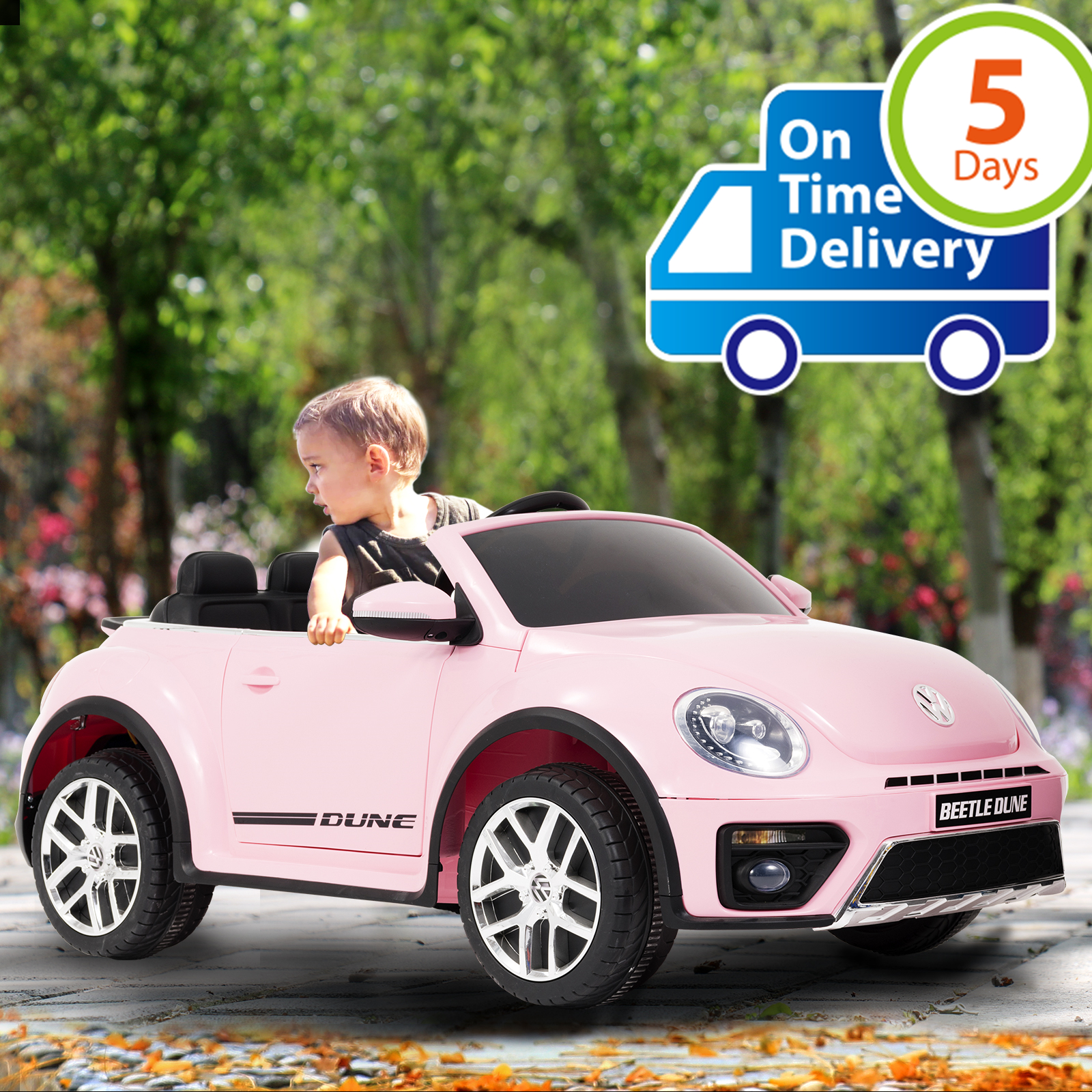 Uenjoy Electric Ride on Cars 12V Battery Lovely VW Beetle Kids Vehicles Cars Double-Drive Car for Kids W/ Remote ...Uenjoy Electric Ride on Cars 12V Battery Lovely VW Beetle Kids Vehicles Cars Double-Drive Car for Kids W/ Remote ...