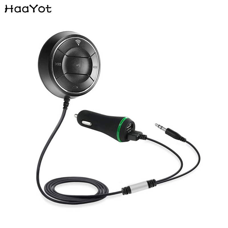 HAAYOT Bluetooth 4.0 Adapter 3.5mm AUX Audio MP3 Music Receiver NFC Hands Free Call Car Kit With