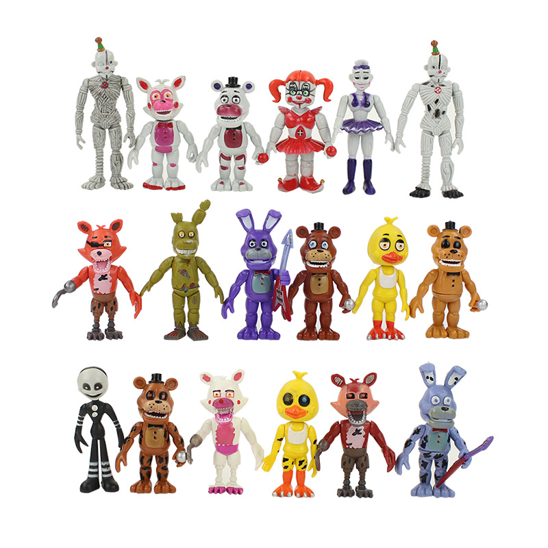 цена 18Styles 14cm FNAF Five Nights At Freddy's Sister Location Funtime Foxy Ballora Puppet Nightmare Freddy PVC Action Figure toy