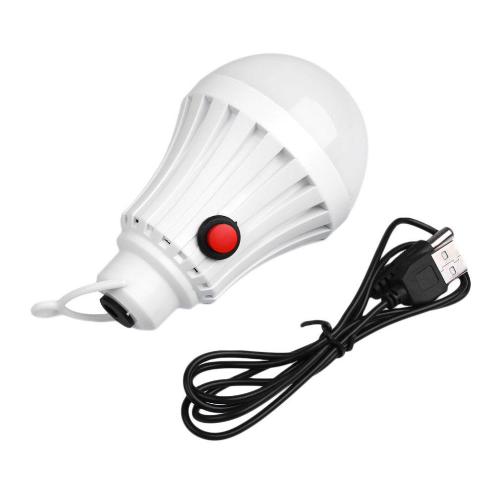 USB Rechargeable Portable LED Lamps Emergency Light with Switch High Quality