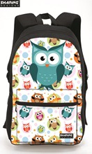Fashion Girls Canvas Backpacks for High School Cute Owl Women Travel Daily Daypack 3D Animal Mochila Feminina Teenage Pack