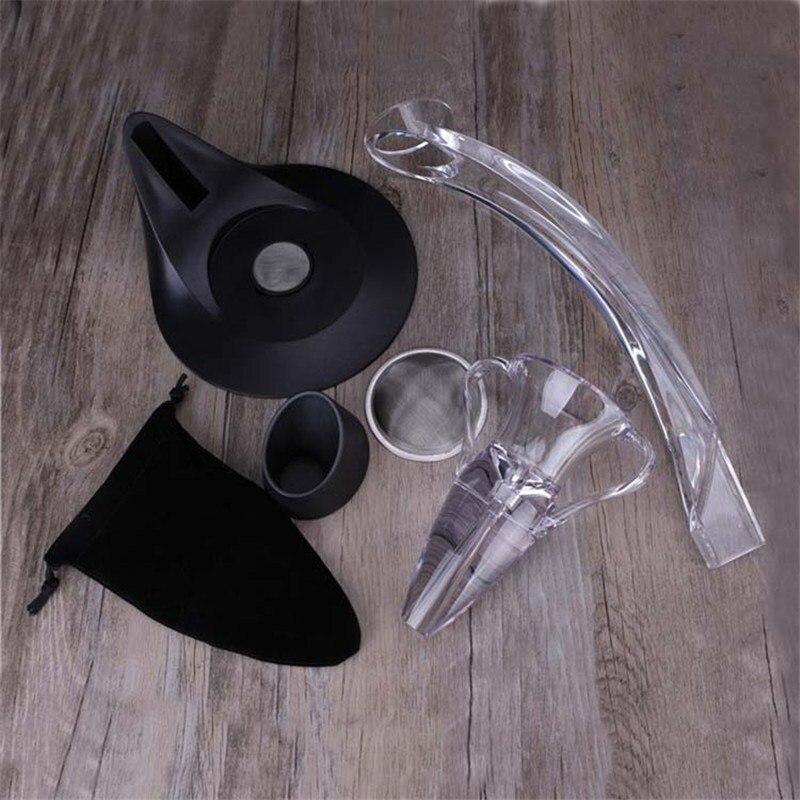1 Set Red Wine Aerator Acrylic Magic Jigger Quick Awakeners Drink Dispenser Aerating Wine Glass Decanter Wine Accessories (2)