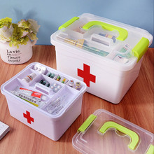 Family Medicine Storage Box Multi-Layer Emergency Medicine Storage Container Household Plastic Medicine Chest Medical Kit medicine premier матрас 1сп 80 195 22 шатура матрасы medicine