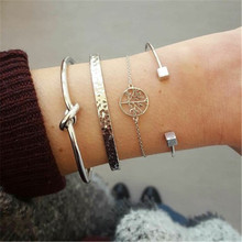2019 summer fashion bohemian bracelet retro hollow round temperament female simple adjustable new sets of decorations