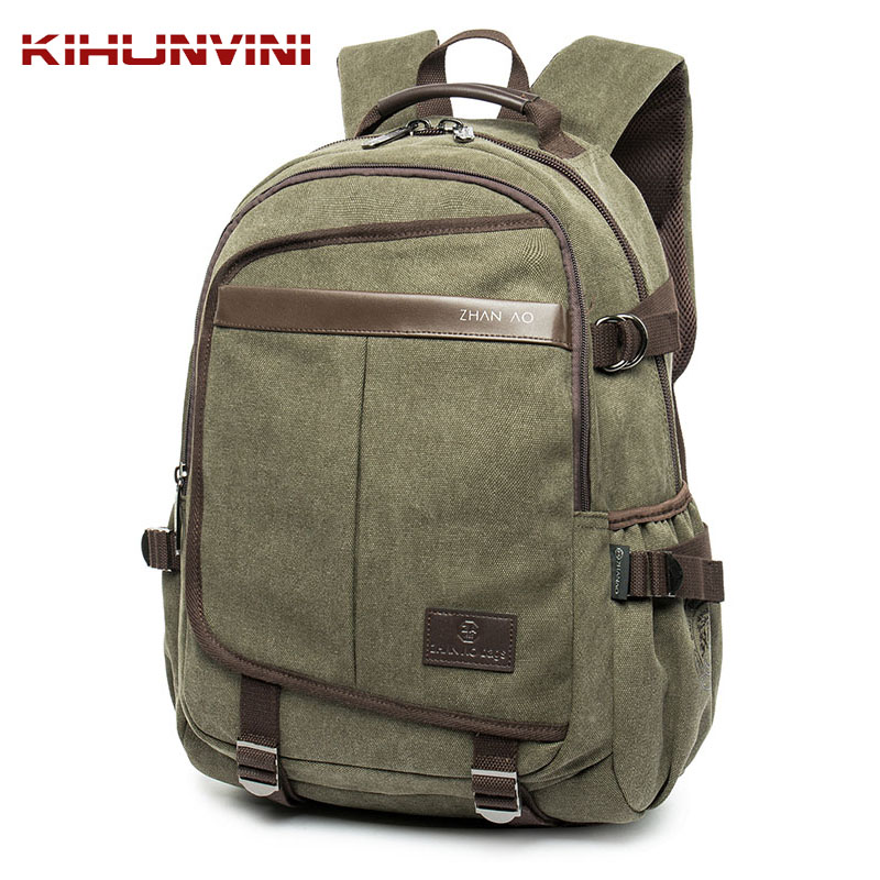 Pack Men Mochila Man's Backpack Luxury Washed Cotton Canvas Backpacking Laptop Bagpack Heavy Duty Travel Big Back Pack Sack