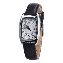 OKTUME женские прямоугольные часы из сплава модные повседневные шикарные женские часы с кожаным ремешком Аналоговые кварцевые наручные часы из сплава A80