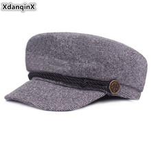 XdanqinX Autumn Winter Fashion Flat Cap For Men And Women Elegant Newsboy Caps Men's Army Hat Sombrero Simple Trend Women's Hats xdanqinx autumn winter women s hat 100