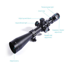 Wholesale prices Mark 4 M1 6 – 24X 50mm Optical Sight Riflescope Illuminated Mil Dot Side Wheel Scope Telescope Tactical Hunting Scope 2017 New