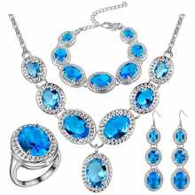 Thick silver jewelry set of new style water drop set of beautiful U.S. цена 2017