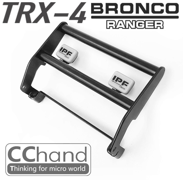 rc car front metal bumper with IPF light for TRAXXAS DEFENDER trx-4 Ford BRONCO crawler car professional rc car front bumper with