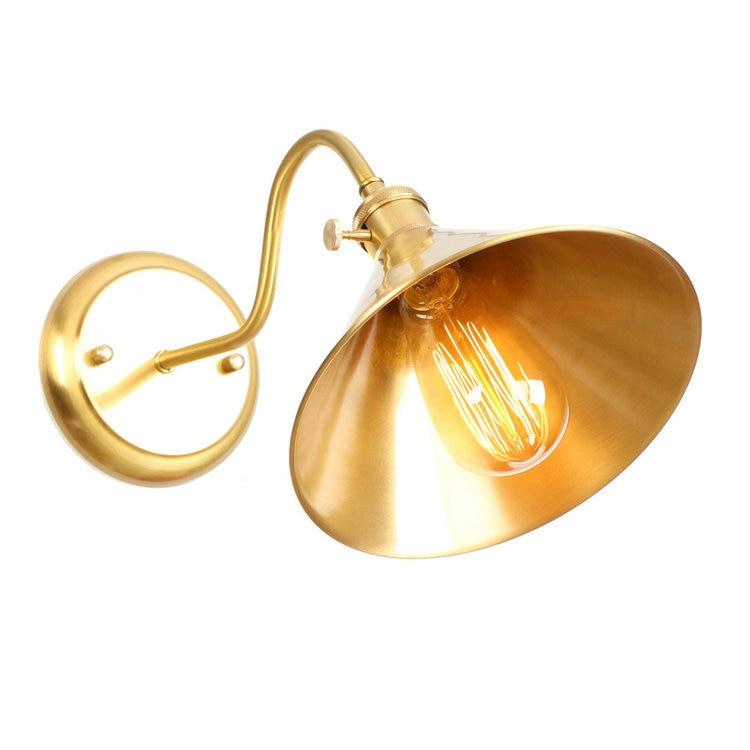 Ac110-220v Coperta Europea Moderna Lampada Da Parete Di Rame Sottile Ombrello Di Tipo Di Tipo Di Fungo Applique Da Parete Bar Lampara Loft Espelho Sconce Delizioso Nel Gusto