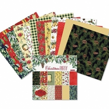 24pcs/Pack 6*6inch 15.2cm Christmas Party Patterned Paper Pack for Scrapbooking DIY Happy Planner Card Making Journal Project