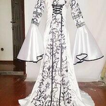 Nuevo Medieval renacimiento victoriano gótico vestido de vampiro Cosplay  carnaval disfraces de Halloween para las mujeres de 38e5655e9250