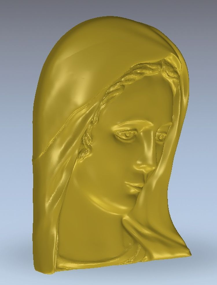 3d Model Relief  For Cnc In STL File Format Madonna_2