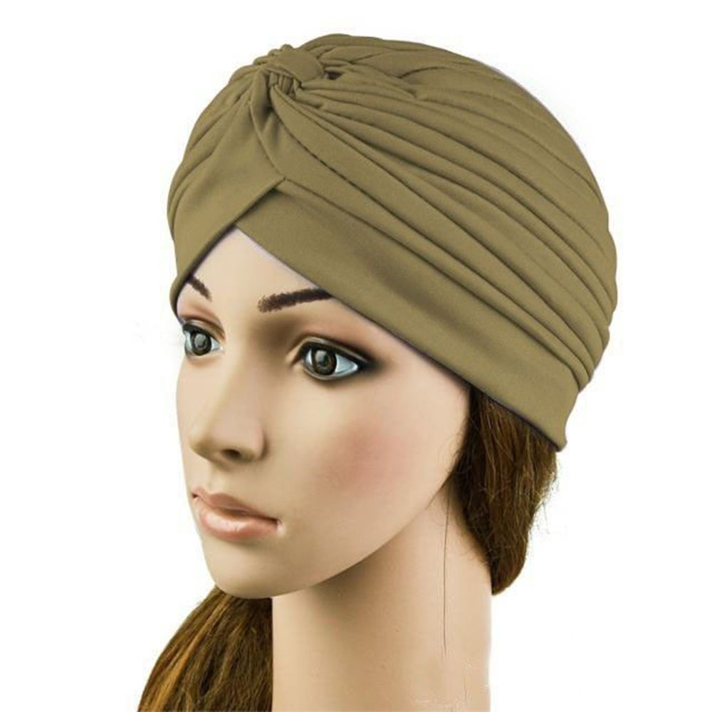 New Unisex Indian Style Stretchable Turban Hat Hair Accessories Sexy Beauty Skullies Solid Hair Head Wrap Cap Headwrap skullies 2017 fashion new arrival indian yoga turban hat ear cap sleeve head cap hat men and women multicolor fold 1866688