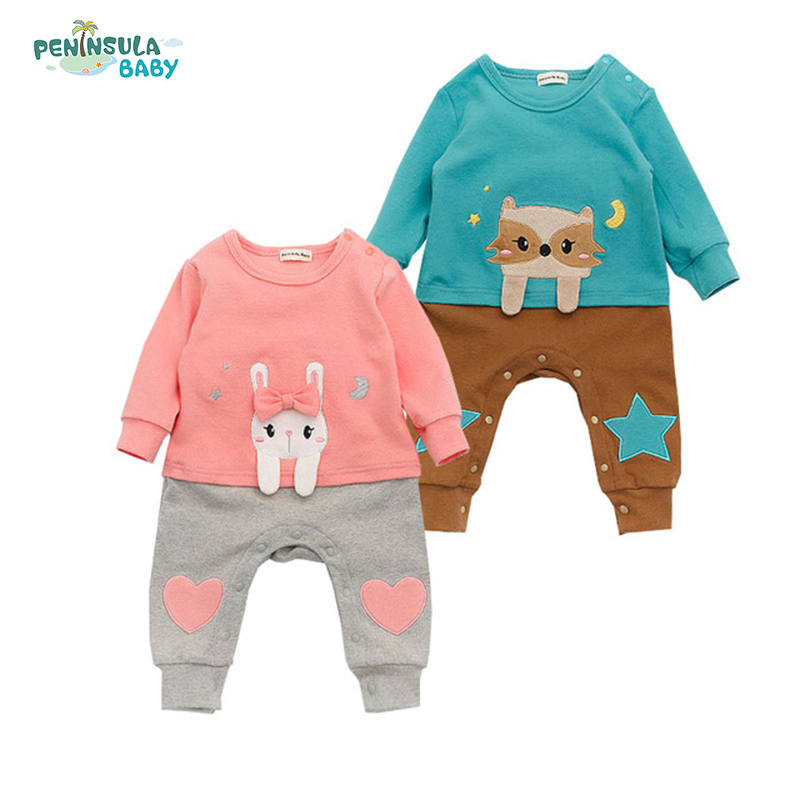 Newborn 2017 Spring Baby Rompers Cute Toddler Jumpsuit Baby Girls Boys Clothes Playsuit Outfits Clothing Roupas De Bebe Menina newborn baby clothing spring long sleeve cotton baby rompers cartoon girls clothes roupas de bebe infantil boys costumes