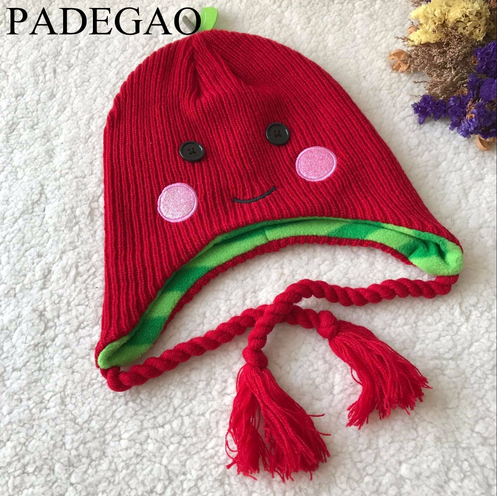 South Korean edition of the new children's hat custom wool apple baby hat children hat the custom of the country