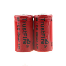 20pcs/lot TrustFire IMR 18350 3.7V 800mAh Rechargeable Lithium Battery Batteries For E-cigarettes Flashlights