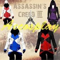 Zapewnienie Halloween kostiumy dla kobiet 3 Nowe ubrania assassins creed Kenway kurtka męska anime cosplay kostiumy dla chłopców dzieci