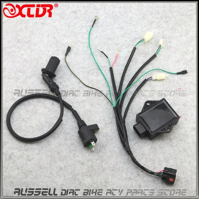 8 Pin CDI Unit Plug Kick Start Wiring Wire Harness Loom