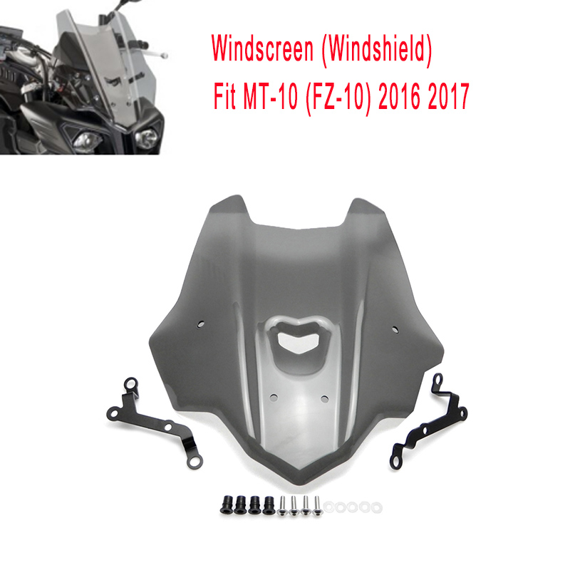 KEMiMOTO MT-10 MT10 Motorcycle Accessories Windshield Windscreen For Yamaha MT 10 FZ-10 2016 2017 ABS Plastic 100% Brand New  погружной насос metabo tdp 7501 s