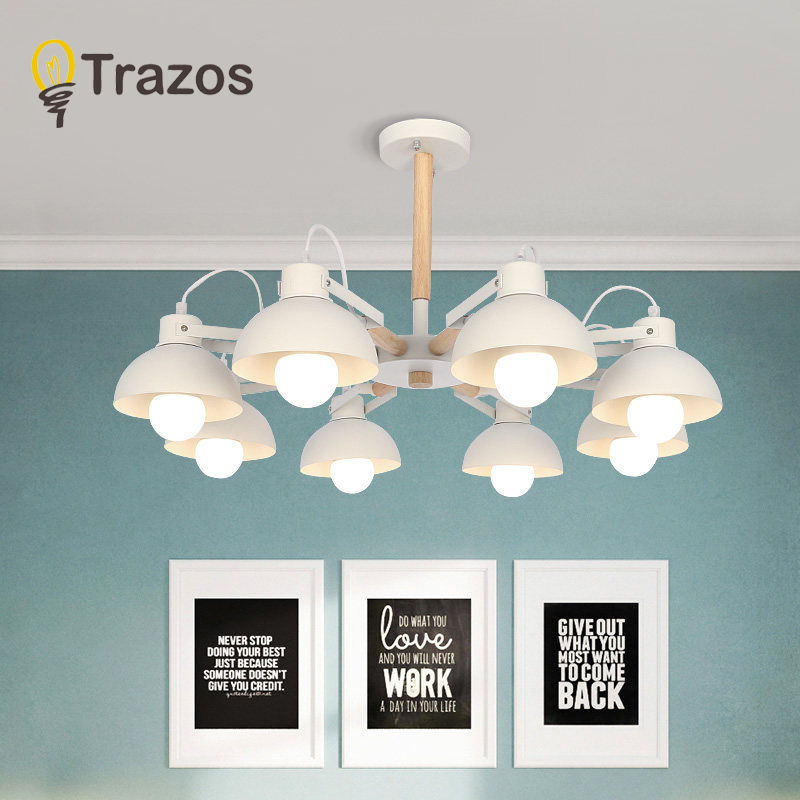 Modern Creative Wooden LED Chandeliers Lamp For Living Room Dining room LED Hanging White/Black Chandelier Lighting luminaire modern creative wooden led chandeliers lamp for living room dining room led hanging white black chandelier lighting luminaire