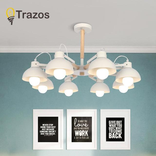 Modern Creative Wooden LED Chandeliers Lamp For Living Room Dining room LED Hanging White/Black Chandelier Lighting luminaire