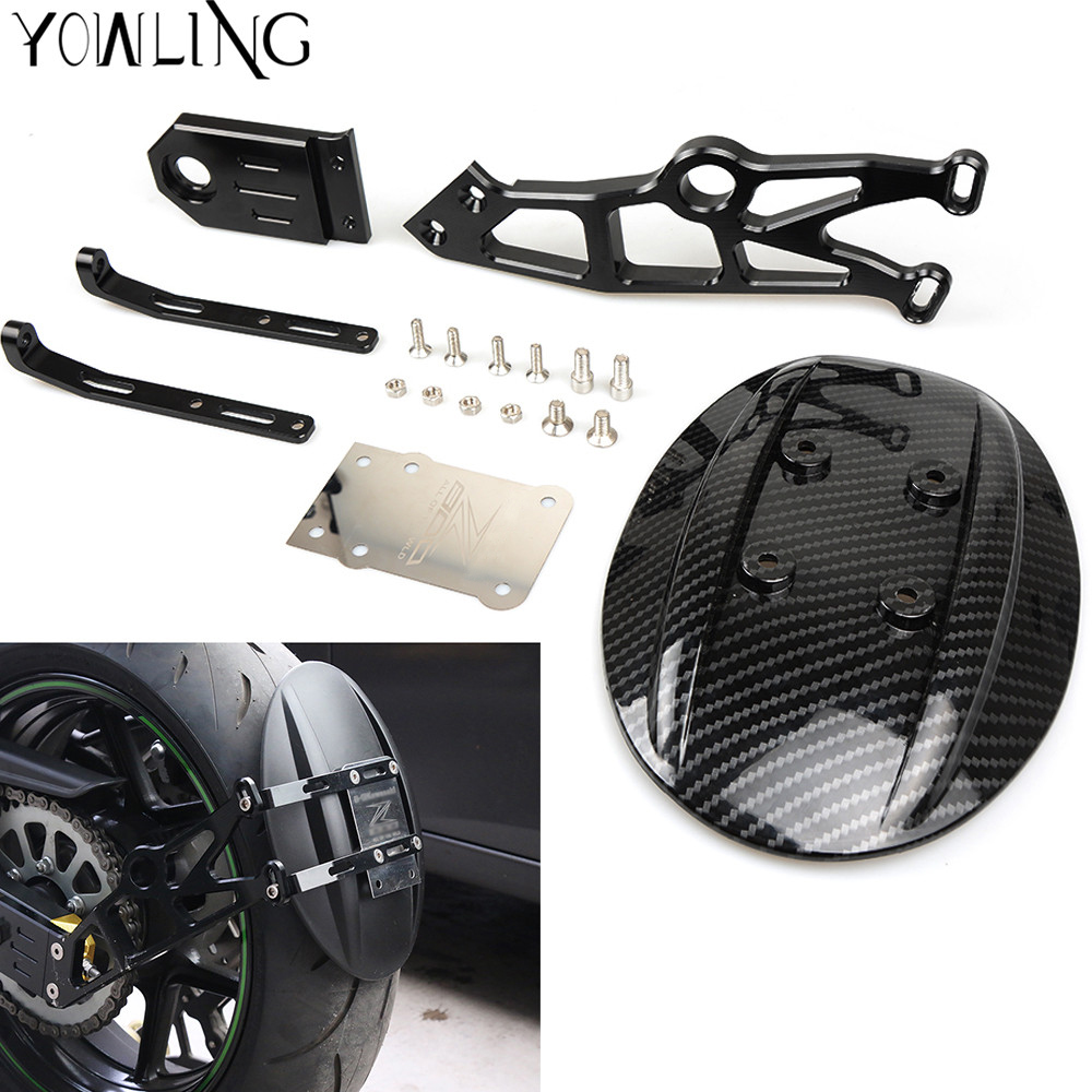 Z800 high quality black color motorcycle parts rear fender CNC aluminum motorbike mudguard For Kawasaki Z800 2013 2014 2015 2016 motorcycle high quality black cnc