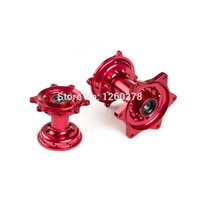 Motorcycle Red CNC Billet Front Rear Wheel Hubs For Honda CR125R 2002 2007 CR250R 2000 2007