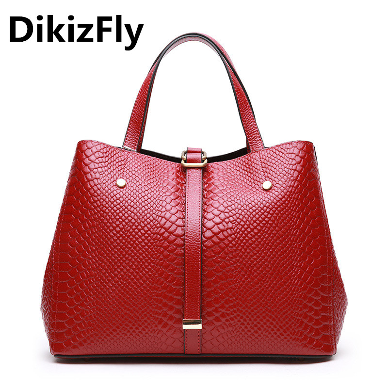DikizFly Genuine Leather Handbag Luxury Tote Bags Women Bag Designer Bolsa Feminina Sac a Main Bolsos Crossbody Bags Borse 2018