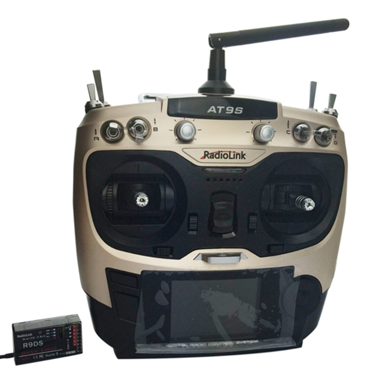 Radiolink AT9S 2.4G 9CH System Transmitter with R9DS Receiver AT9 Remote Control update vision for quadcopter Helicopter free shipping original maxidiag elite md802 all system ds model md 802 full system ds epb ols data stream update by internet