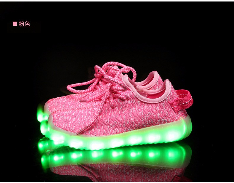 2016 NEW Children Luminous Sneakers USB Charging Kids LED Luminous Shoes Boys Girls of Colorful Flashing Lights Sneakers (7)
