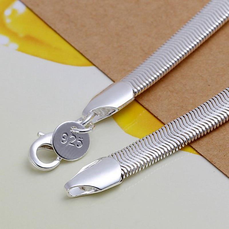 Livraison gratuite gros bracelet en argent, bijoux plaqué argent de - Bijoux fantaisie - Photo 3