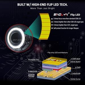 Image 4 - Sinolyn פנס עדשות מלאך עיניים דו קסנון עדשת 3.0 פרו HID מקרן Retrofit COB LED Halo רכב אורות אביזרים DIY כוונון
