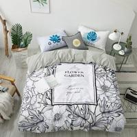 Digital Printing 4 Pcs Bedding Set 13372 Pure Cotton Duvet Cover Set Pillowcase Flat Fitted Bedspread Flower Garden Twin Queen
