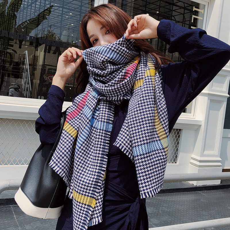 2019 design brand women scarf fashion cashmere scarves neck warm rings lady pashmina bandana echarpe blanket in Women 39 s Scarves from Apparel Accessories