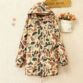 3XL2016New Women's winter jacket large  fashion Casual Women Parka camo cotton Hooded down &parkas Female Coat Parka Plus Size