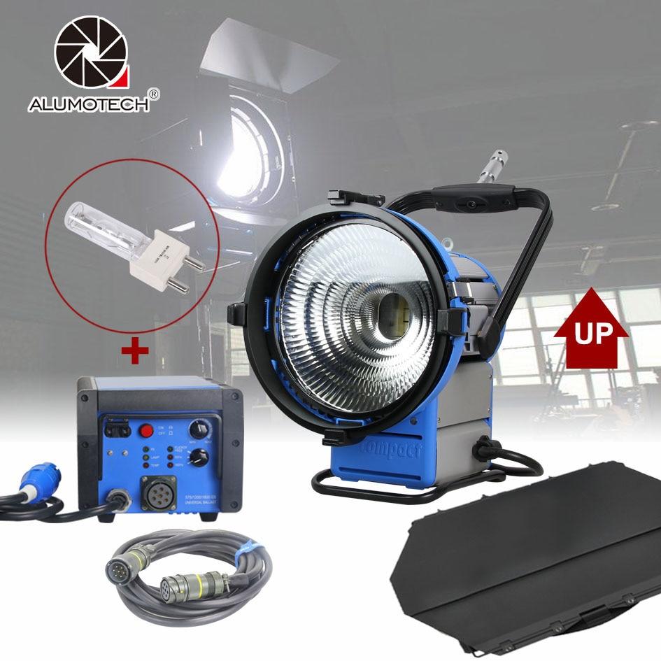 ALUMOTECH Upgraded Pro Film HMI M18 Par Light+1800W&1200W Electronic Ballast Flicker-Free+7m Cable+1800W Bulb cheap dimmable 1200w hmi fresnel light daylight electronic ballast with case lighting film for movie light sdutio lighting
