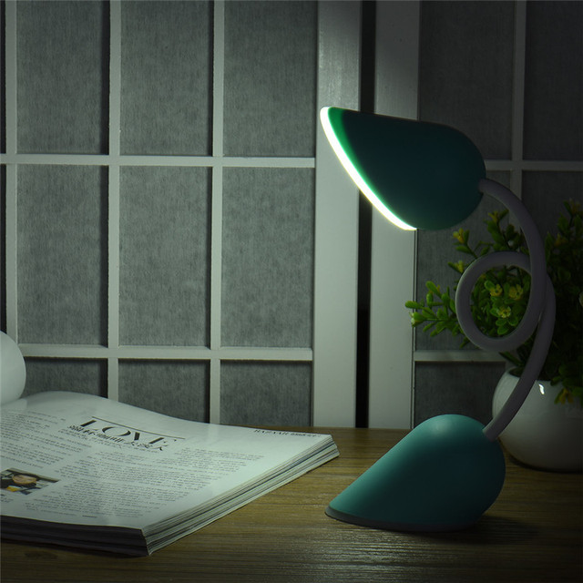 500mah USB Dimmable LED Book Reading Light Lamp Flexible Bright Book Light Laptop Pink/Blue Lights Table Desk Lamp For Reading