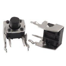 Ângulo direito momentâneo 6x6x5mm do interruptor de botão do tato tátil do pwb de 1000 pces 6*6*5mm com stent