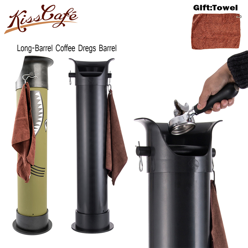 High-capacity Thicken Coffee Tamper Knock Box Deep Bent Design Coffee Slag Isn't Splash Manual Coffee Grinder Coffee Accessories